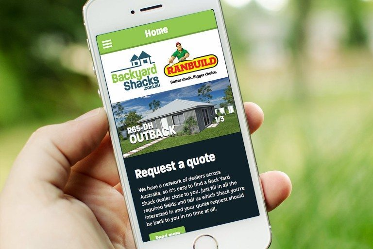 Backyard Shacks Website