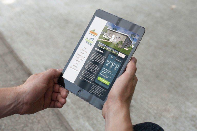 Backyard Shacks Website Tablet