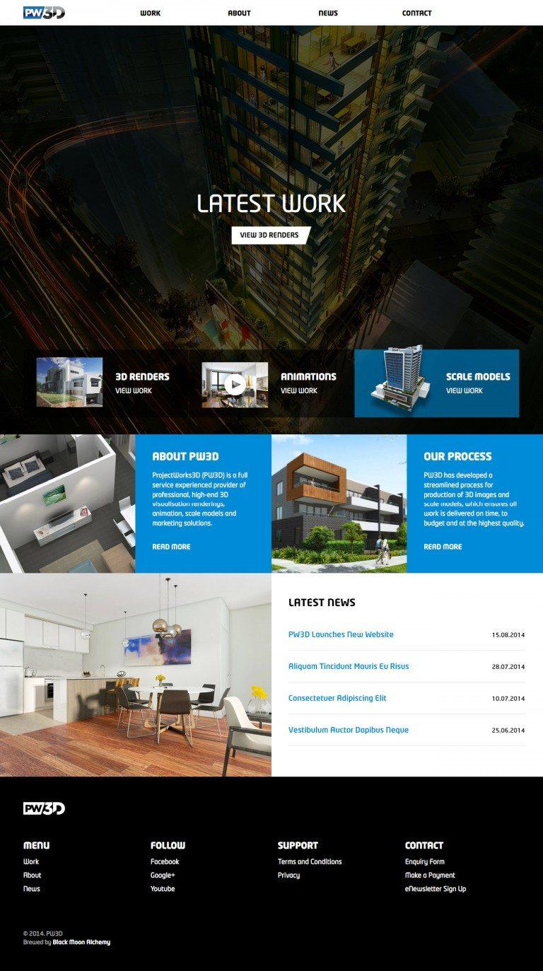 PW3D Website Homepage
