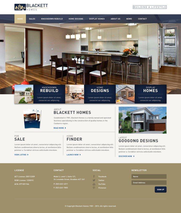 Blackett Homes Website Homepage