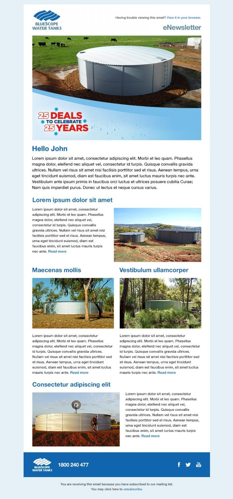 Bluescope Water Consumer Newsletter