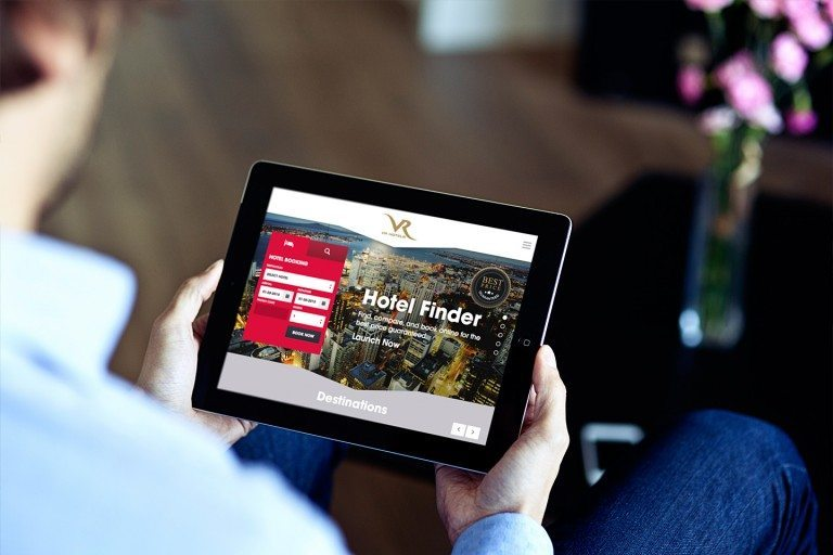 VR Hotels Website Tablet