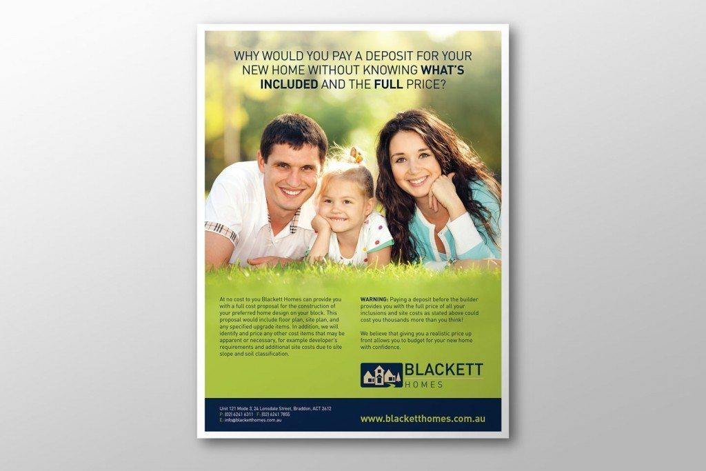 Blackett Homes Press Ad