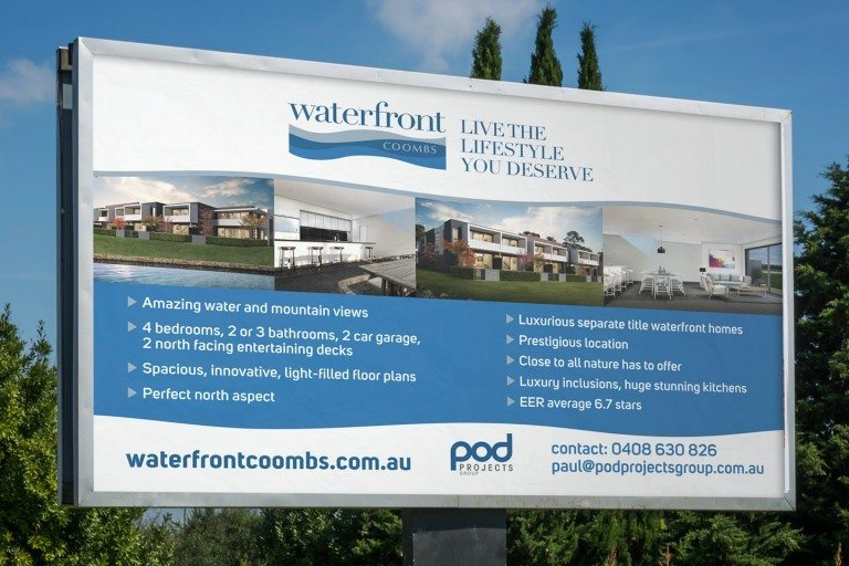 Waterfront Coombs Signage