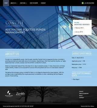 Concise Asset Management Website Homepage