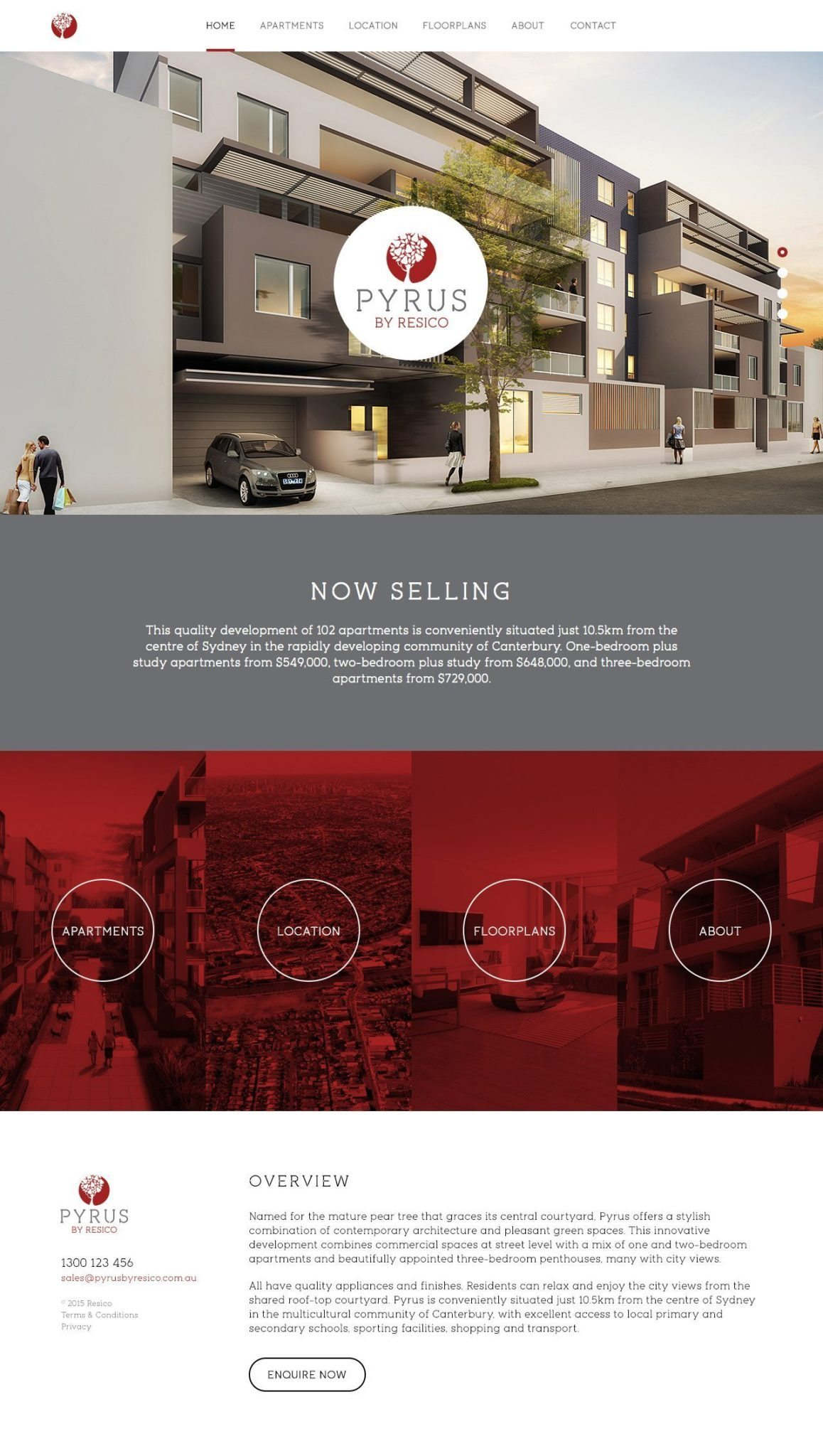 Pyrus Website Homepage