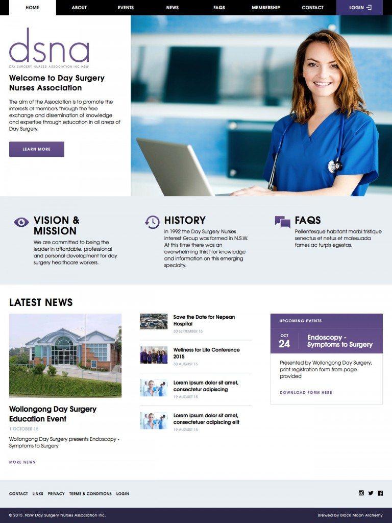 NSW DSNA Website Homepage