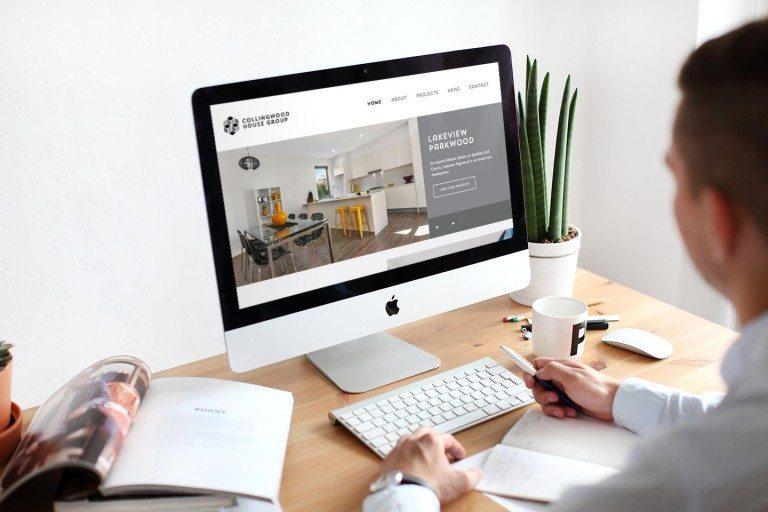 Collingwood House Group Website Desktop