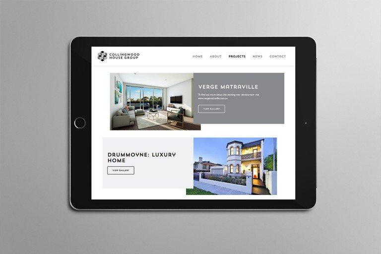 Collingwood House Group Website Tablet