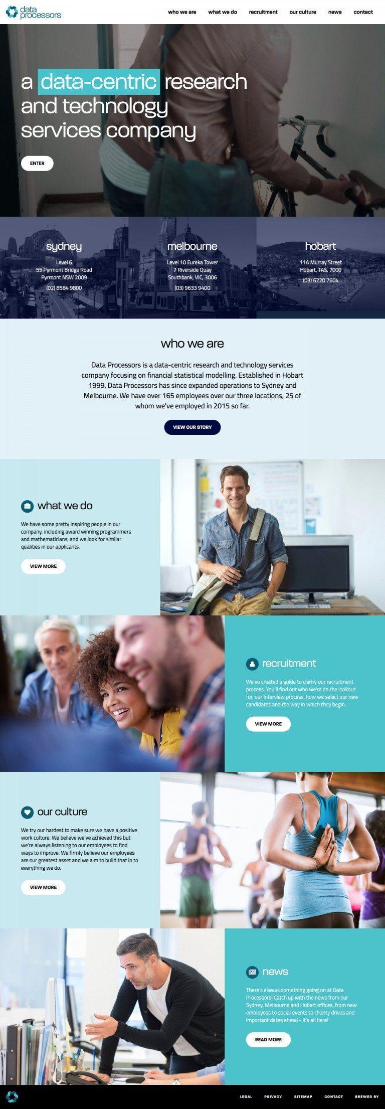 Data Processors Website Homepage