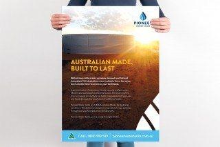 Pioneer Water Tanks Poster