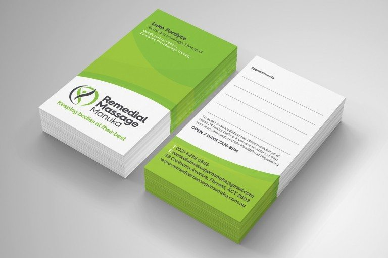 Remedial Massage Manuka Business Card