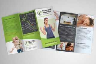Remedial Massage Manuka DL Flyer