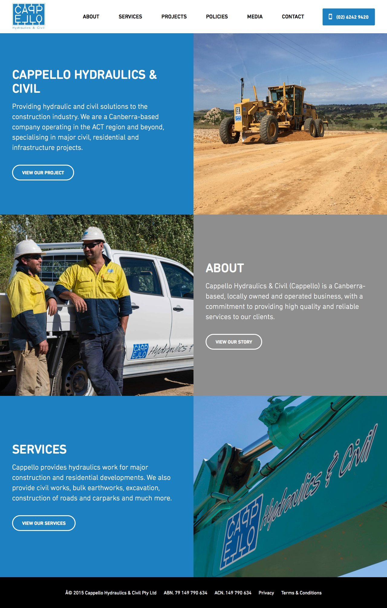 Cappello Hydraulic & Civil Solutions Homepage