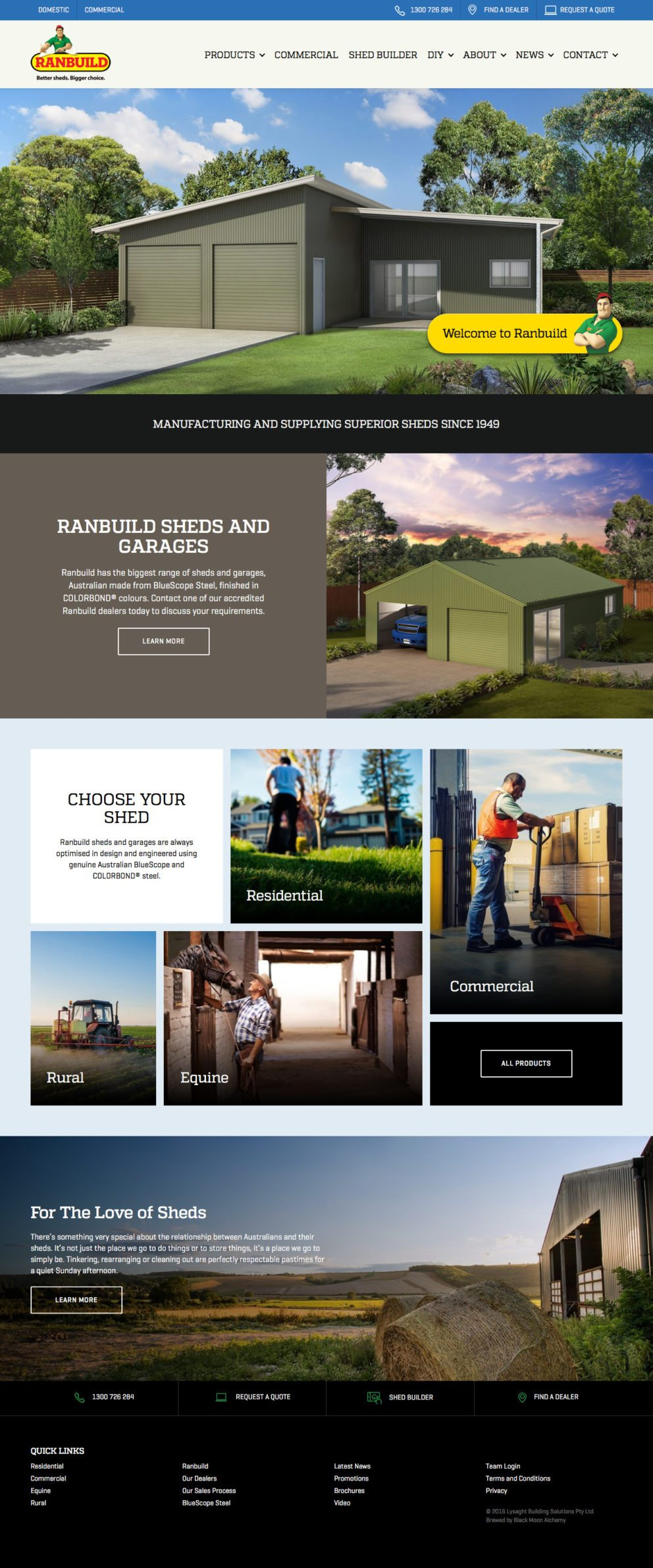 Ranbuild Domestic Website Homepage