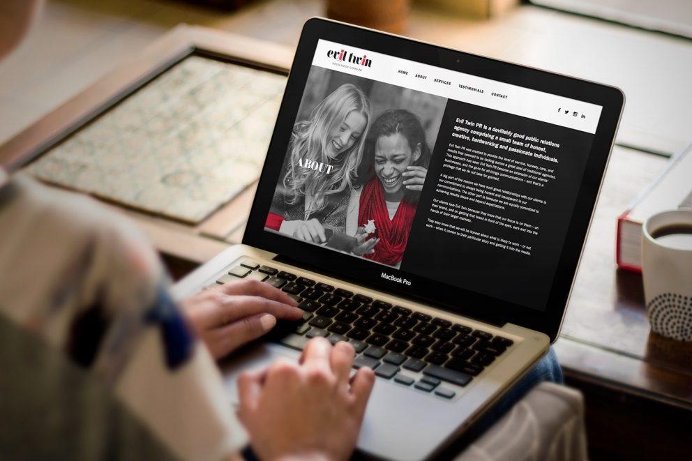 Evil Twin PR Website Desktop