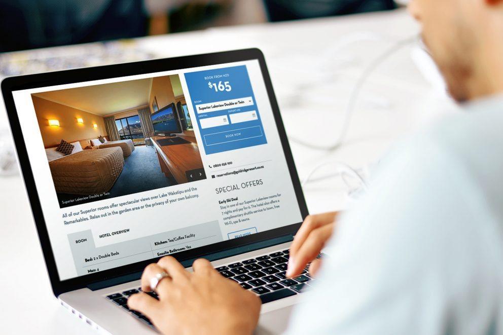 Goldridge Resort Website Desktop