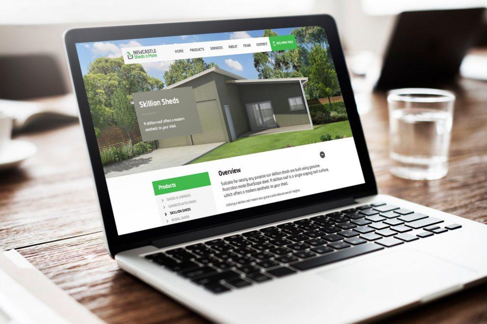 Sheds n More Website Desktop