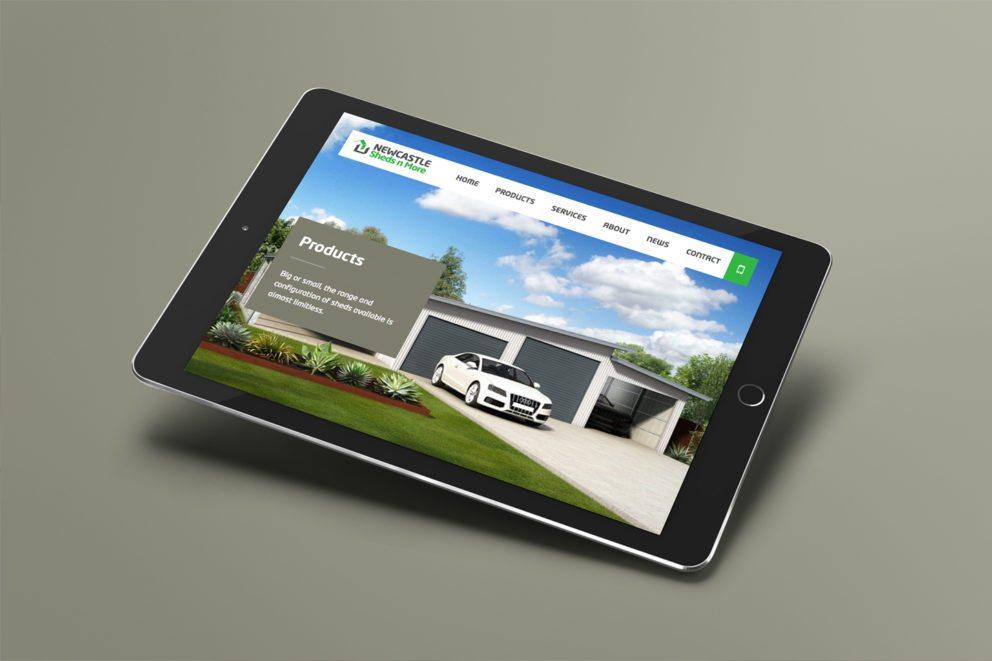 Sheds n More Website Tablet