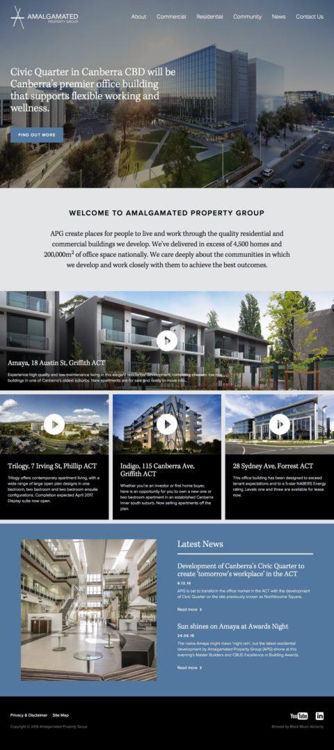 Amalgamated Property Group Website Homepage