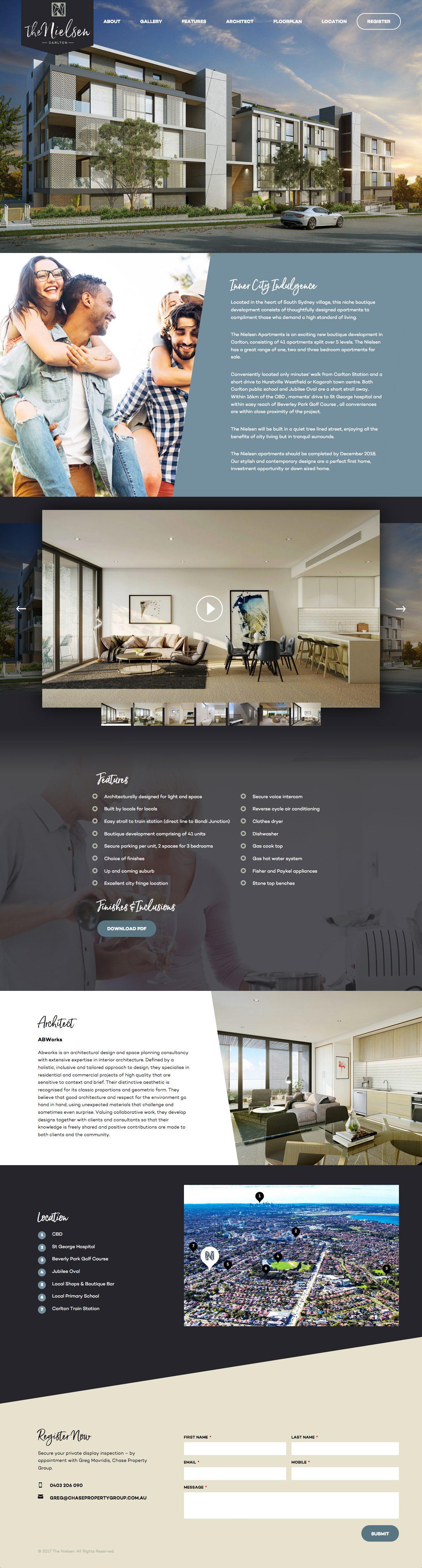 The Nielsen website homepage