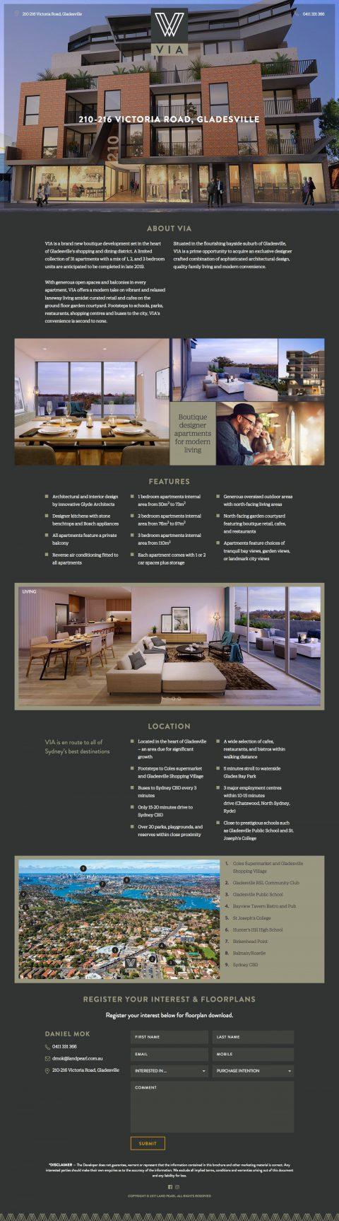 VIA Gladesville website homepage