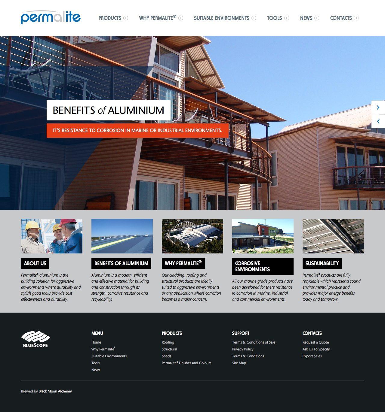 Permalite Website Homepage