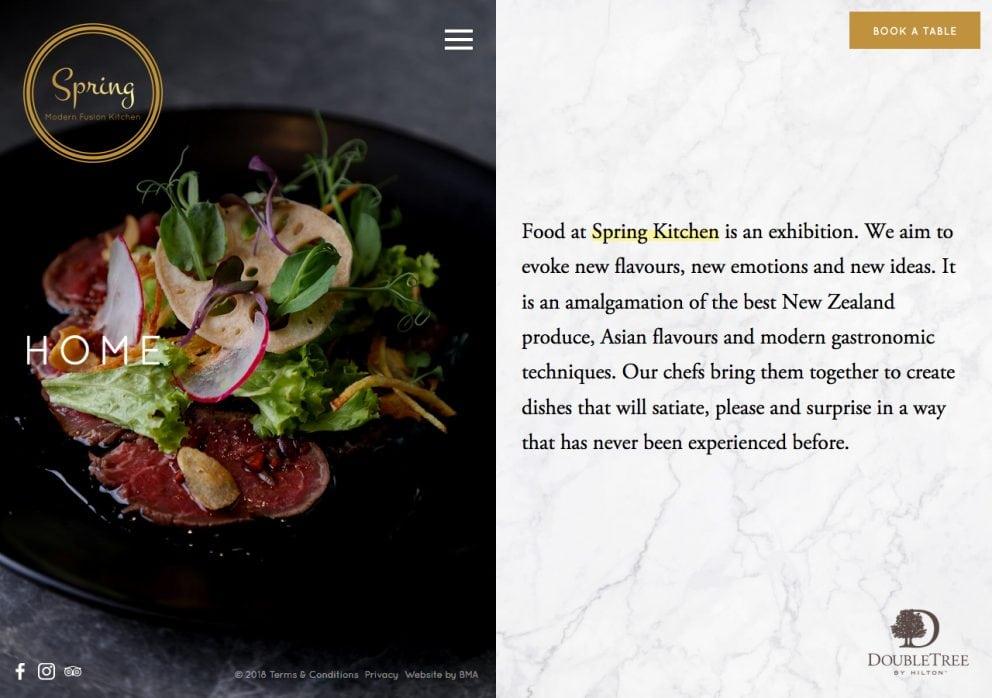Spring Kitchen website homepage
