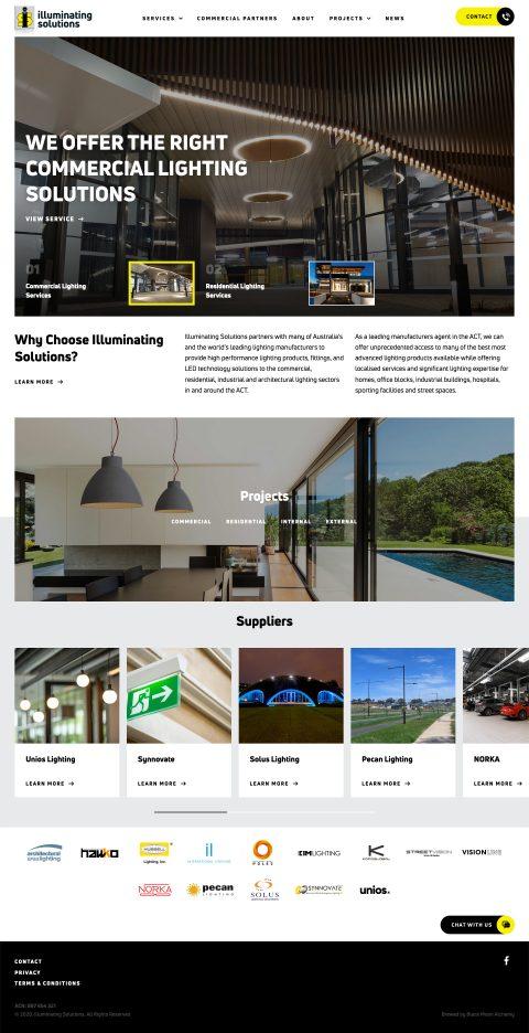 Illuminating Solutions website homepage