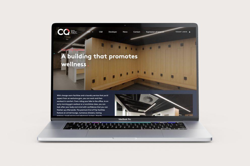CQ Canberra website desktop